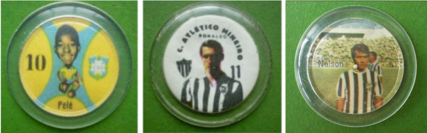 Pelé, com a camisa da CBD. Ronaldo, do Galo e depois Palmeiras. Nelsinho Batista, do timaço da Ponte Preta de 70